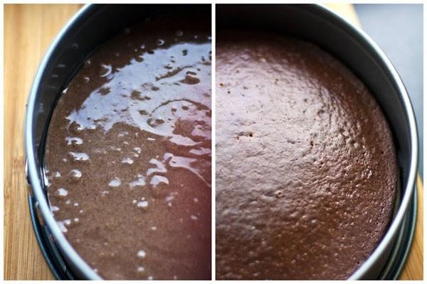 Бисквит из черемухи отлично сочетается с шоколадным кремом и с черносливом