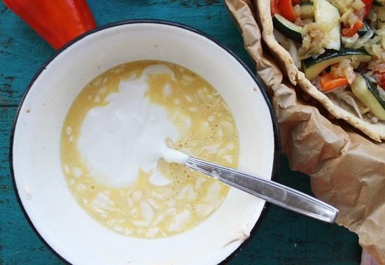 Готовим соус-заливку для киша