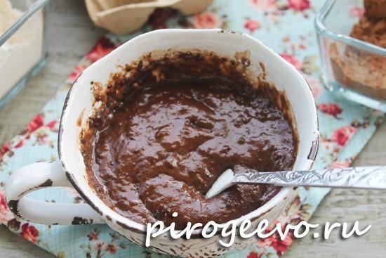 Шоколадное тесто для кекса