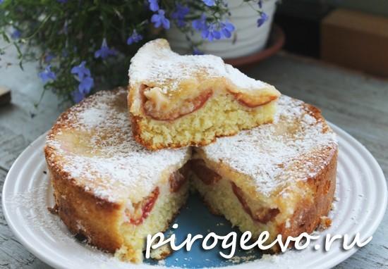 Пирог на скорую руку в разрезе