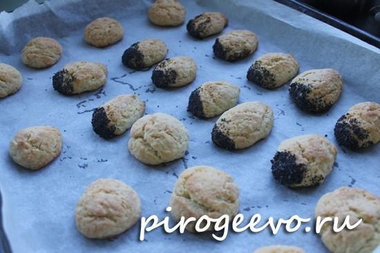 Румяные заготовки печенья