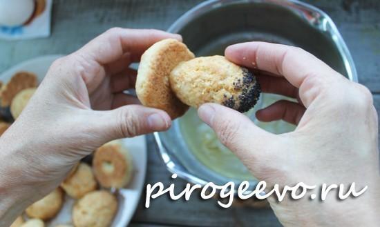 Скрепляем части печенья