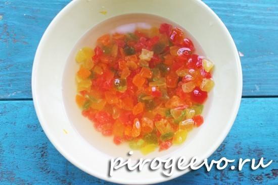 Кулич с цукатами: пошаговый рецепт с фото