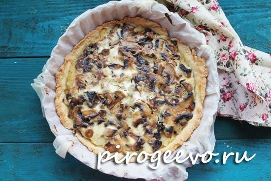 грибной пирог в духовке рецепт с фото