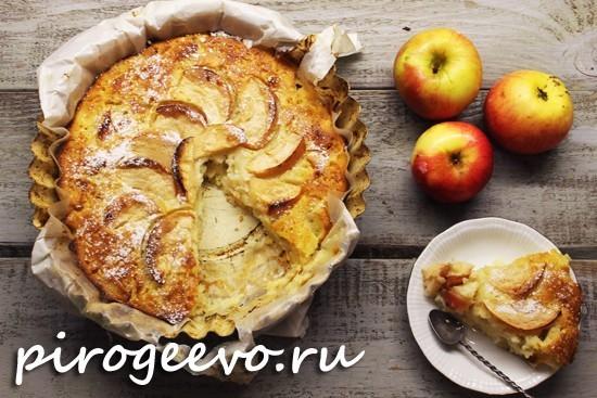 Манник на кефире с яблоками рецепт с фото