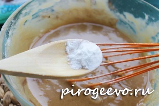 Пищевая сода добавляется к остальным ингредиентам