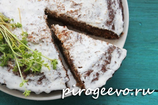 Вкусный торт на морковных коржах