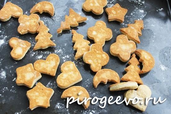Перевернутое печенье на противне