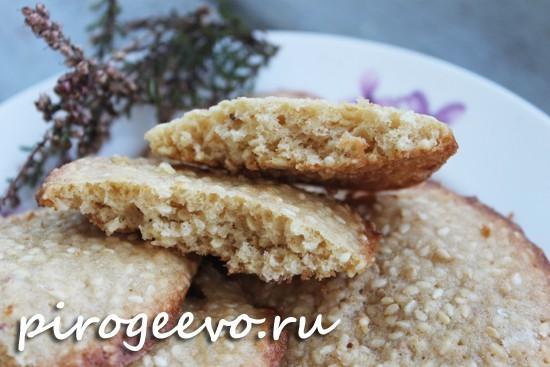 Печенье с кунжутом готово