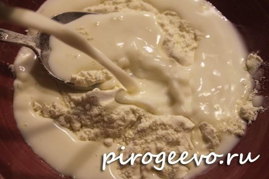 Готовим смесь для заварного крема