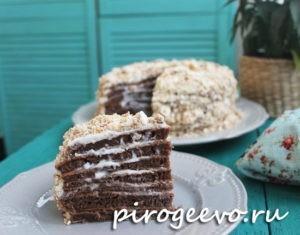 Шоколадный торт в разрезе