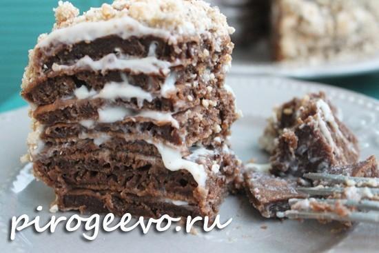 Шоколадный торт на сковороде получается очень вкусным