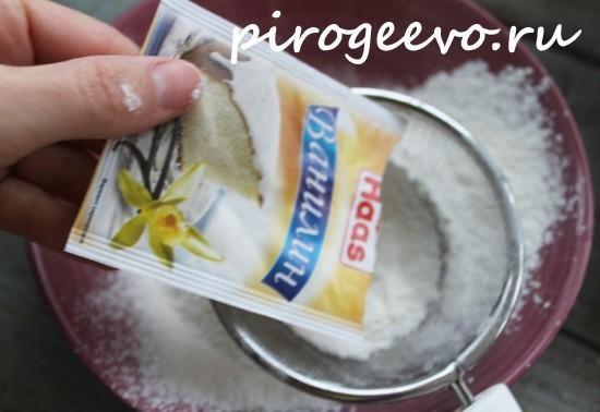 Добавляем ванилин в сухие ингредиенты