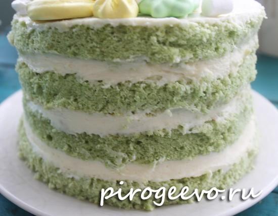 Красивый голый торт