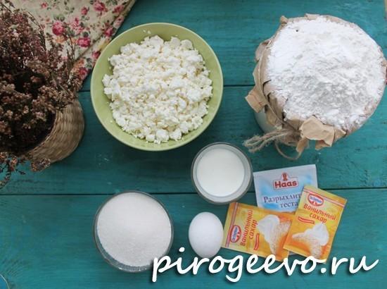 Творожное печенье с белой глазурью