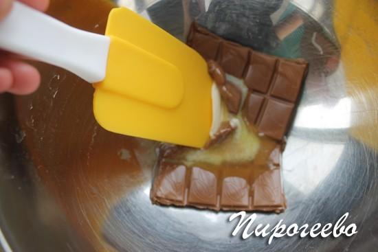 Тем временем шоколад растаял