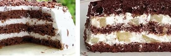Какой торт приготовить из шоколадного бисквита