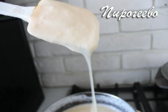 Заварной крем для эклеров и торта однородный и нежный