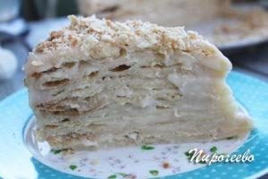 """Вкусный пропитанный торт """"Наполеон"""""""