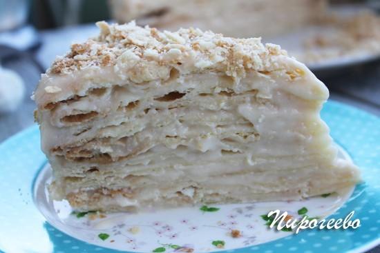 рецепт торта наполеон с заварным кремом и слоеным тестом