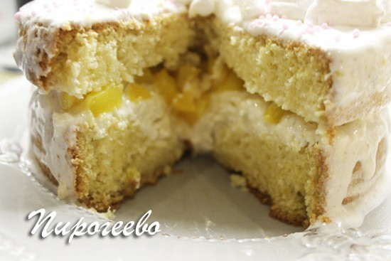 Пышные бисквитные коржи в торте