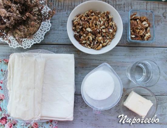 Как приготовить пахлаву из слоеного теста