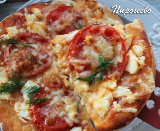 пицца в духовке на тонком тесте рецепт