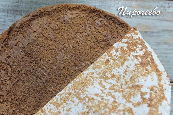 Печем шоколадный бисквит для торта