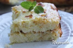 Запеканка из кабачков с сыром готова