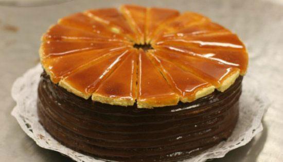 Торт Добош с карамельной корочкой