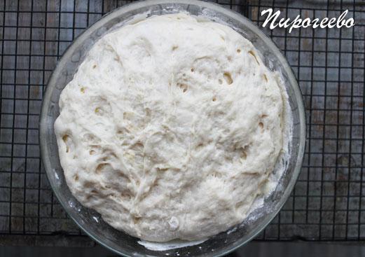 Дрожжевое тесто для хачапури подошло
