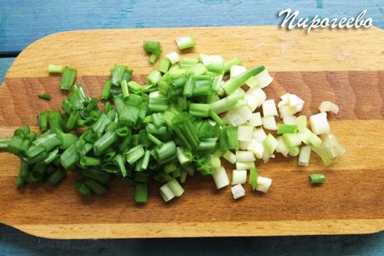 Шинкуем зеленый лук мелко-мелко
