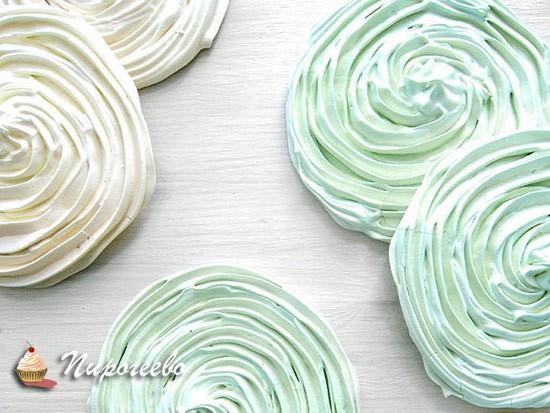 Красивые меренги для торта-безе