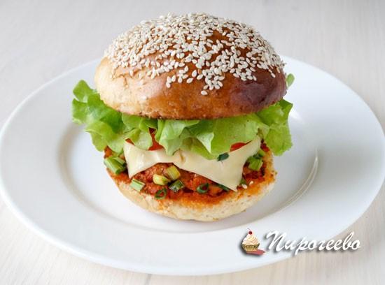 Вкусный домашний гамбургер рецепт с фото