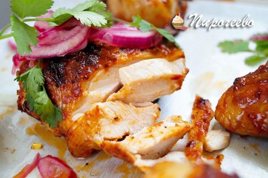 Вкусная курица барбекю