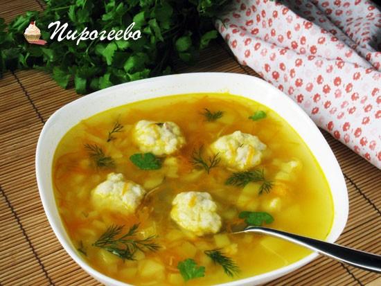 Суп с клёцками рецепт с фото пошагово