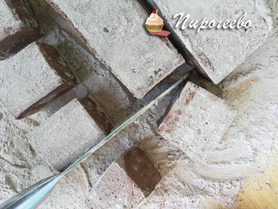 Разрезать маршмеллоу на квадраты