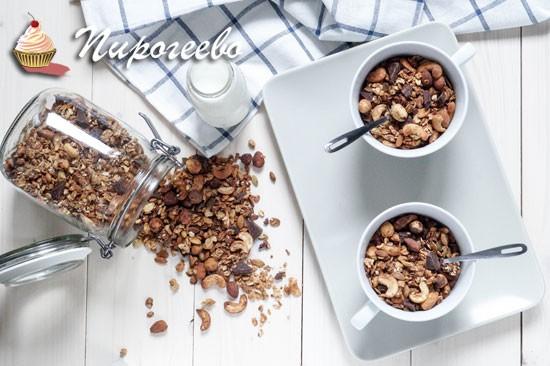 Как приготовить шоколадную гранолу в домашних условиях