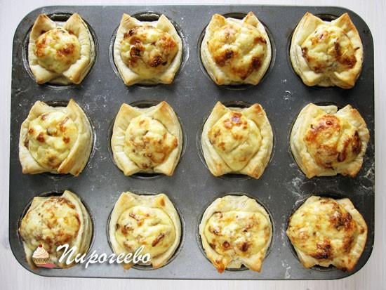 Вкусные тарталетки с сыром готовы