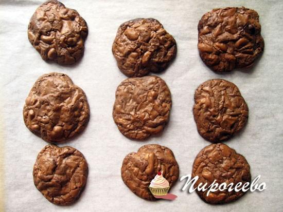 Как сделать шоколадное американское печенье