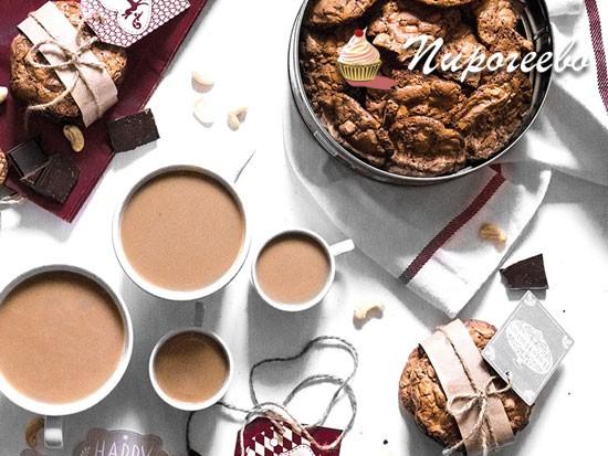 Рецепт шоколадного печенья к чаю