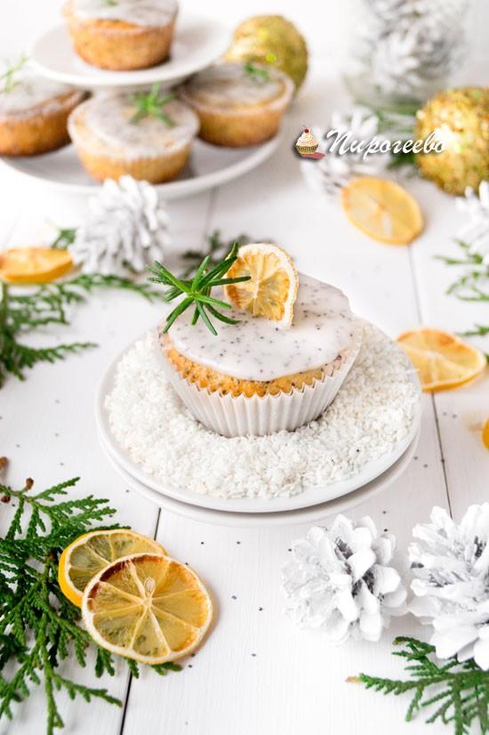 Вкусные лимонные маффины с глазурью