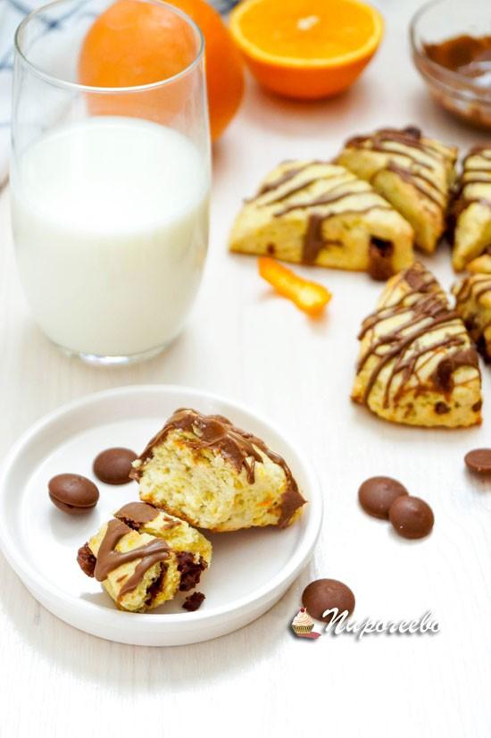 Английские булочки сконы с шоколадом