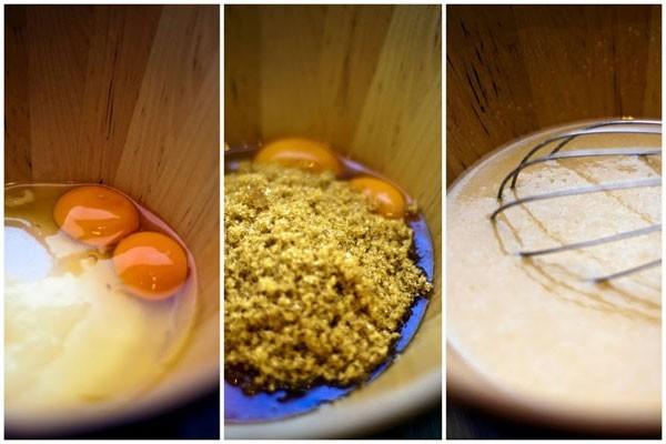 В пирог из черемуховой муки можно положить как обычный, так и коричневый сахар
