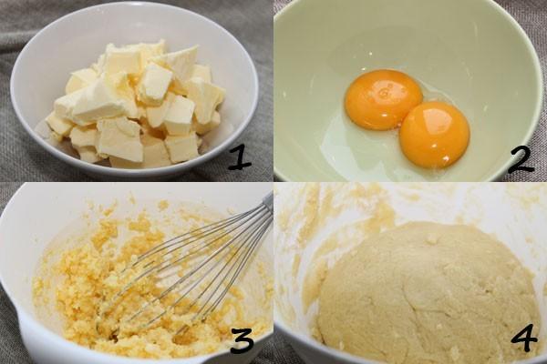 Готовим песочное тесто для пирога с яблоками