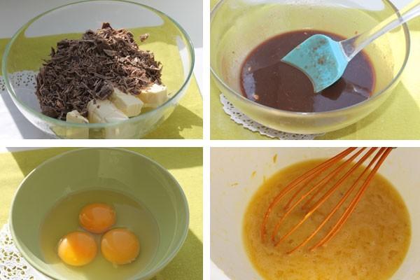 Шоколад для пирога брауни нужно растопить на водяной бане