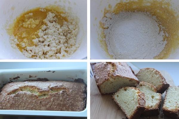 Кекс из творога можно украсить сахарной пудрой
