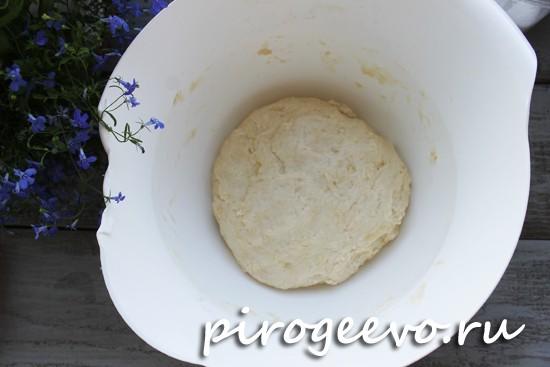 Замешиваем тесто и оставляем подниматься