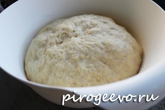 Дрожжевое тесто на плюшки после расстойки в холодильнике