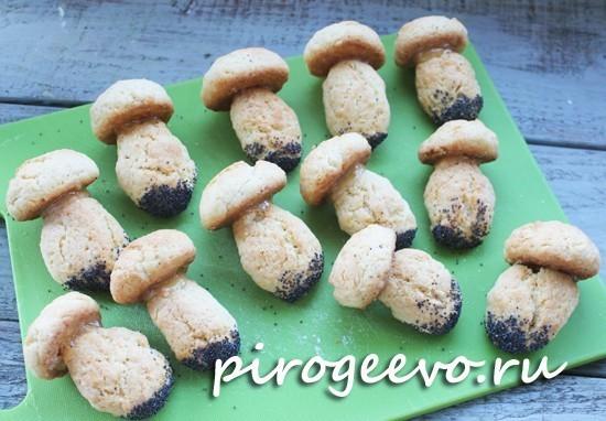 Печенье Грибочки готово